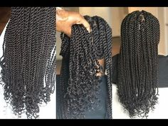 Its A Twisty Situation! Senegalese Twist With Curled Ends [Video] - Black Hair Information Senegalese Twist Braids, Twist Box Braids, Senegalese Twist Hairstyles, Twist Curls, Twist Braid Hairstyles, Braids Wig, Curled Hairstyles, Big Braids, Updo Hairstyle