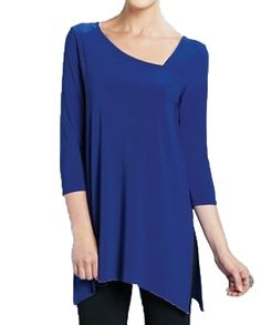 Kimboze - Clara Sunwoo Cobalt Blue Asymmetrical Neck Top , $59.99 (http://www.kimboze.com/clara-sunwoo-cobalt-blue-asymmetrical-neck-top/)