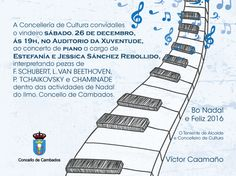 CORES DE CAMBADOS: CONCERTO DE PIANO NO AUDITORIO DA XUVENTUDE