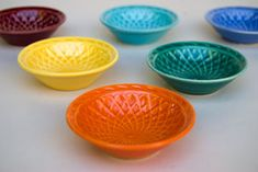 Vintage Harlequin Basketweave Nut Dishes.  Comes in yellow, red, mauve, rose, maroon, spruce, light green  turquoise.  Have blue, yellow, turquoise, maroon.