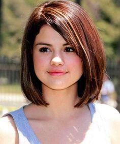 Cortes de pelo para cara redonda: Fotos de los cortes de pelo - Media melena lisa cara redonda