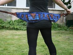 Puzzled - festival pocket utility belt gypsy patchwork burning man clothing