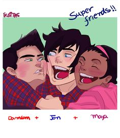 Damian, Jon and Maya. From Supersons and Robin, son of Batman.  I love maya xD she's a jondami shipper