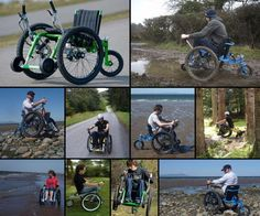 Off road wheel chair! This would be AMAZING to have!