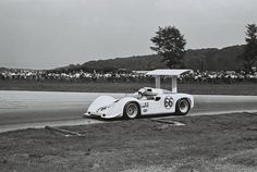 Jim Hall driving his Chaparral 2G in the 1967 Road America Can-Am.