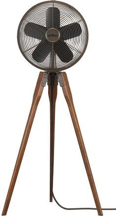 Arden tripod fan with wooden legs