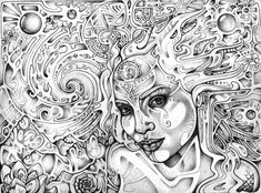 """Astral Perception"", 2012  Graphite on bristol vellum. 9 x 12 inches.  work in progress: lauraborealisis.deviantart.com… Prints available on my Etsy shop: www.etsy.com/listing..."