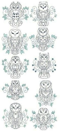 Owl patterns, design, arts