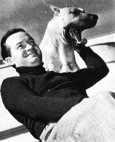 Bob Hope and his dog in 1938