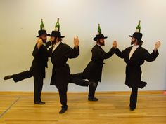 Bottle Dancers USA from Brooklyn - professional troupe of Jewish male dancers hired to perform traditional Russian and European folk dances at Jewish celebrations. Very interesting.