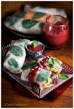 Jalapeno Plum Sauce and Spring Rolls with Plum Sauce recipe by SpicieFoodie.com