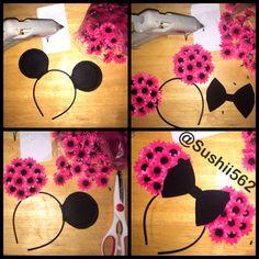 Pink Minney Mouse Ears.  #Disney Inspired. #DIY #Homemade