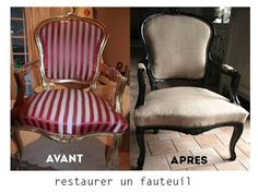 Fauteuil berg re style louis xv relook for Repeindre un fauteuil