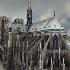 3d notre dame paris cathedral