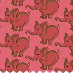 Wild Ones flannel pink elephants print, $6.96/yd, ConnectingThreads.com