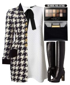 """""""LLDM"""" by krizan ❤ liked on Polyvore featuring TFNC, Moschino, Bershka, Burberry, Balenciaga and Maybelline"""
