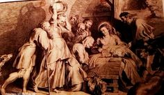 """La adoración de los pastores"" Lucas Worsterman. (1595-1675) Buril. ""The Adoration of the Shepherds"" Lucas Worsterman. (1595-1675) Burin."