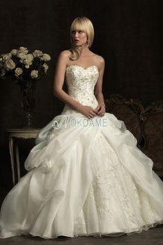 Herz-Ausschnitt tiefe Taile ärmellos sexy bodenlanges Brautkleid mit Blume