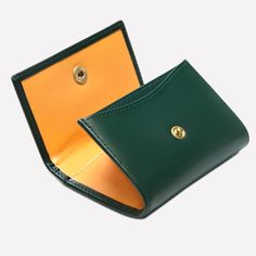 Ettinger London – Luxury Leather Goods –  Bridle Hide Coin Purse with Card Pocket in Green