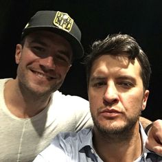 """Luke Bryan from Grammys 2016: Instagrams & Twitpics  """"Me and @SamHuntMusic ready for Grammys."""""""