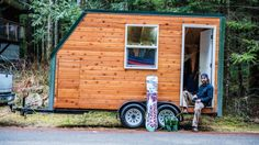 Andy's 102 Sq. Ft. Tiny House on Wheels (For Sale)  ~ Great pin! For Oahu architectural design visit http://ownerbuiltdesign.com