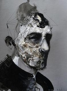 ghost in the machine - darksilenceinsuburbia: Eric Lacombe You can. Arte Horror, Horror Art, Abstract Portrait, Portrait Art, Portraits, Trending Art, A Level Art, Creepy Art, Graphic