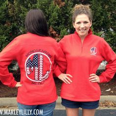 Marley Lilly Monogrammin' 'Merica Red Pullover Sweatshirt | Marley Lilly