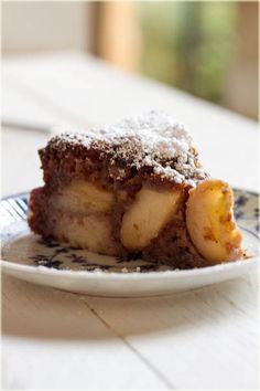 עוגת תפוחים ופודינג דבש