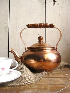 Copper teapot. Oh my goodness.