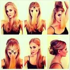 Como fazer estilos de cabelos simples