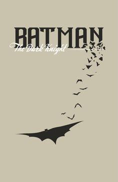 Retro Superheroes : BATMAN THE DARK KNIGHT by Joey Gessner