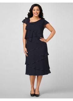 """#plus size dresses,Catherines womens plus size,womens dresses,navy blue dresses,chiffon dresses,plus size fashion,  Pants Women ""rufffffllles"