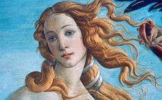 Detalhe do Nascimento de Vênus, Galeria Ufizzi, Florença, Itália