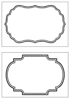Free label templates for place cards, escort cards, etc. | DIY ...