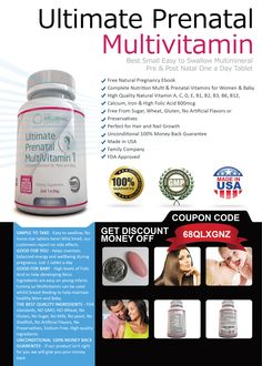 Take advantage of this special offer #prenatal #multivitamins by using this #coupon code  http://www.amazon.com/gp/product/B00LEFI9MG