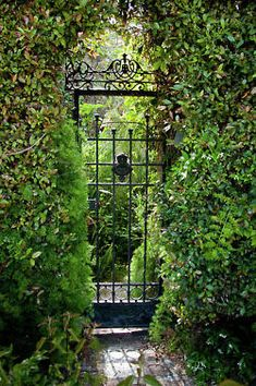 Love this gate.  ♔ a beautiful thing is never perfect...