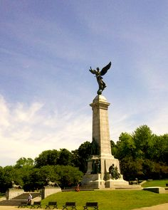 Statue d'Athéna, Parc Mont-Royal - Montreal, Canada.