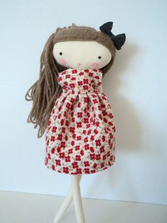 isabella rag doll cloth doll made to order by lassandaliasdeana