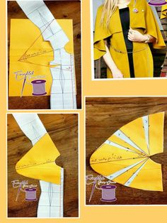 Cape duster - Best Sewing Tips Dress Sewing Patterns, Clothing Patterns, Sewing Hacks, Sewing Tutorials, Sewing Sleeves, Pattern Draping, Sewing Blouses, Modelista, Fashion Sewing