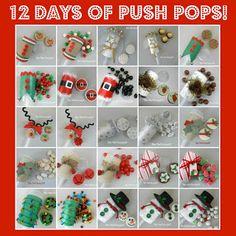 12 Days of Push Pops—Christmas treats❣ The Partiologist Christmas Gift For You, Homemade Christmas Gifts, Christmas Treats, All Things Christmas, Holiday Fun, Christmas Time, Christmas Cakes, Holiday Cakes, Christmas Desserts