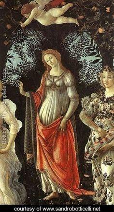 """""""Allegory of Spring."""" Detail. Sandro Botticelli"""