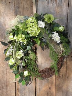 Spring Wreath Cottage Wreath Front Door Wreath by KathysWreathShop