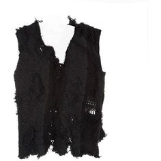 Preowned Junya Watanabe Black Stretch Knit Vest ($500) ❤ liked on Polyvore featuring outerwear, vests, black, sweaters, layered vest, v neck vest, junya watanabe, vest waistcoat and v-neck vest