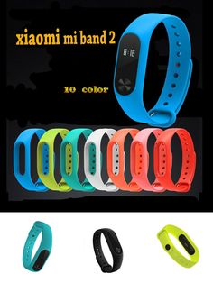 [Visit to Buy] Mi Band 2 smart Bracelet strap Colorful Silicone for MiBand 2 Smart Band Replacement  Accessories strap For Xiaomi Mi Band 2 #Advertisement