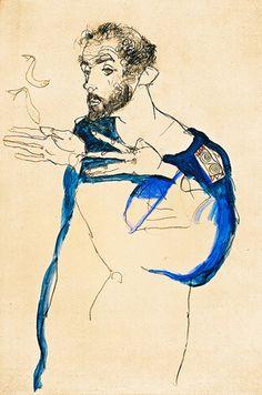 Gustav Klimt by Egon Schiele, 1913