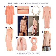 The colour for summer 2016! Get your dose of peach now with our picks from the sales!