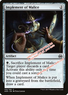 Implement of Malice.xlhq Magic the Gathering Proxy mtg proxies cards all available from $0.37 visit www.mtg-proxies-cards.com email vmvtvg@outlook.com
