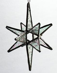 Stained Glass Moravian Star Ornament/Sun Catcher   Star by LAGlass, $19.50