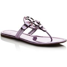 efcbd5bc16a327 Tory Burch Miller Metallic Thong Sandals ( 205) ❤ liked on Polyvore  featuring shoes