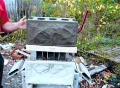 Historic Rock Fack Block - Home Concrete Molds, Concrete Crafts, Concrete Blocks, Masonry Blocks, Large Wall Murals, House Foundation, Building A Fence, Vintage Rock, Outdoor Projects
